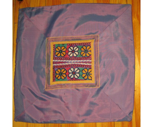 TURKMEN SILK FABRIC EMBROIDERED PILLOW CASE 2153