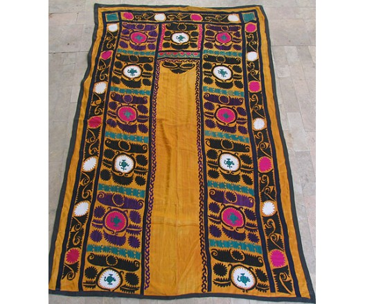 UZBEK SILK HAND EMBROIDERED SUZANI JOYPYSH  8466