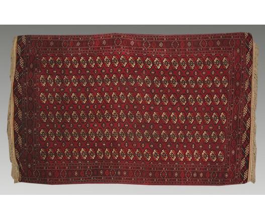 ANTIQUE TURKMEN TEKE CARPET-TURKOMAN ORIENTAL RUGS 5600